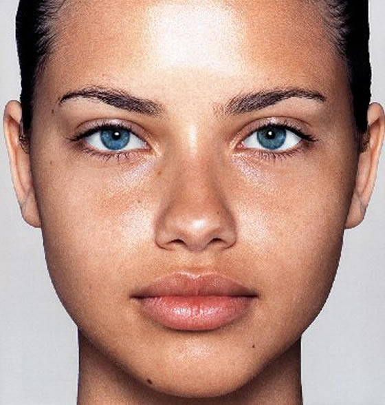 Adriana Lima, Supermodels without make-up, Leonardo de Caprio