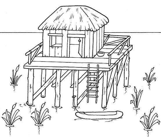 A hist ria das moradias atividades e modelos de casas for Fachadas de casas modernas para colorear