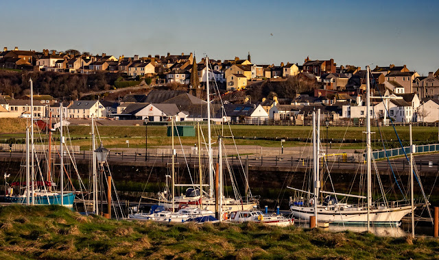 Photo looking across Maryport Marina from the sea wall
