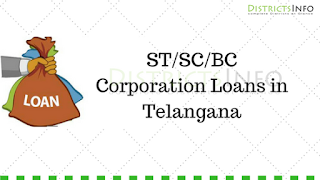 ST/SC/BC Corporation Loans in Telangana