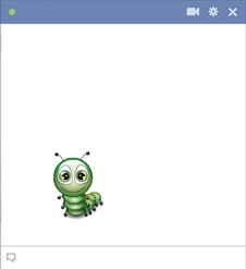Facebook Caterpillar Emoticon