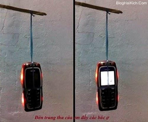 Hình ảnh đèn trung thu bằng điện thoại hài vật vã