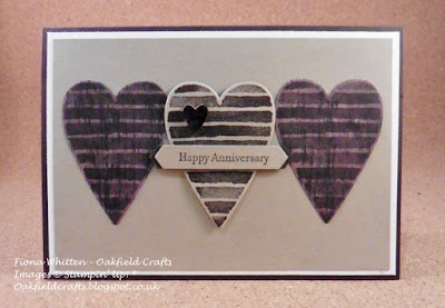 Anniversary, valentines, hearts, oakfield crafts, Stampin' Up!