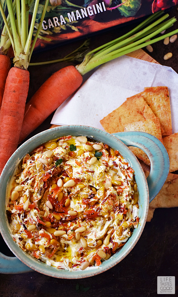 Turkish Carrot Yogurt Dip is a better-for-you option when it comes to creamy, dreamy dips. This is an easy recipe that has the tang of Greek yogurt combined with the sweetness of carrot and garlic with hints of nuttiness. Perfect for a party dip, snack, or football appetizer. #LTGrecipes #WeekdaySupper