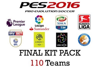 PES 2016 Final Kitpack 2016-17 (110 Teams)