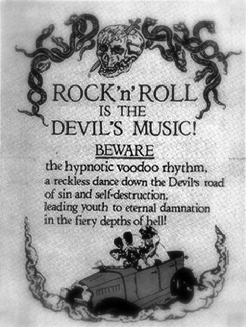 Rock 'n' Roll Devil's Music | Funny religion picture