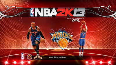 NBA 2K13 Carmelo Anthony Titlescreen Patch