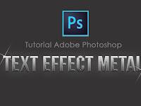 Membuat Text Effect Metal