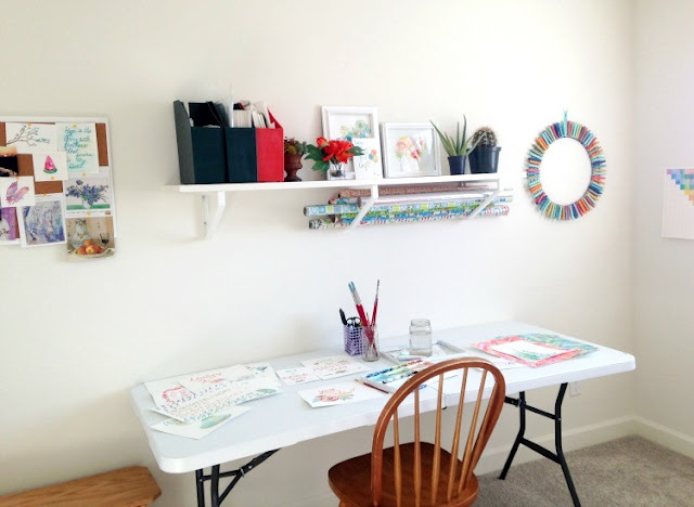 craft/ art room storage and decor: grow creative