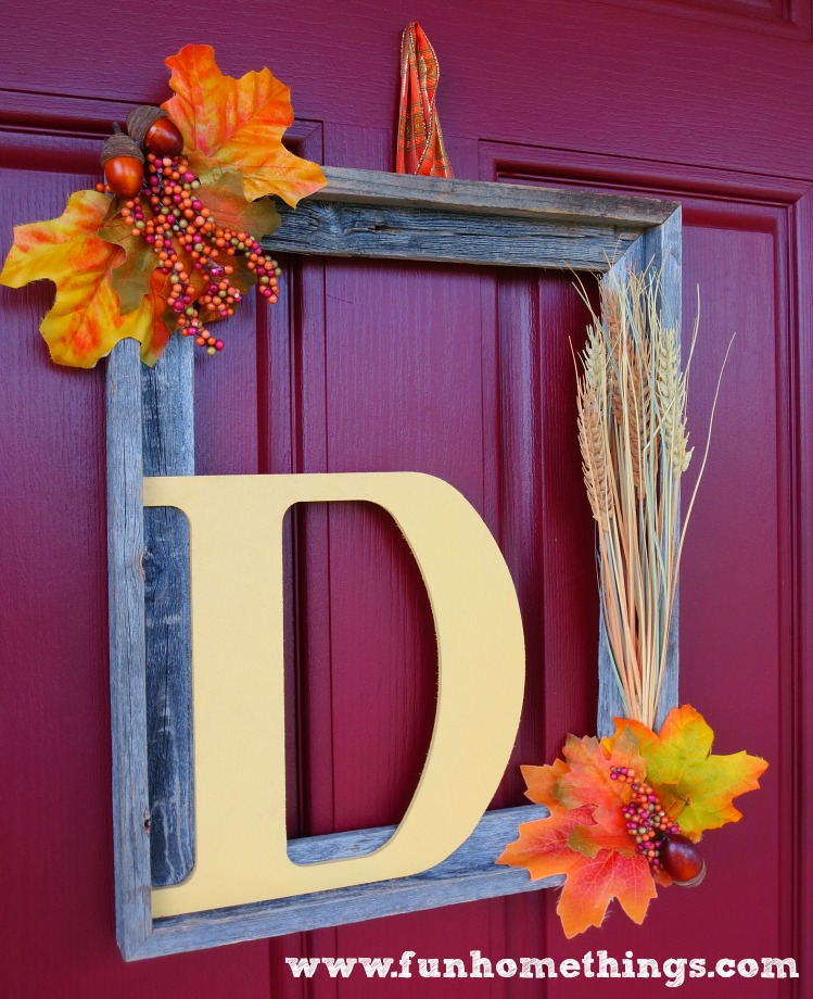 Fall Picture Frame Wreath Fun Home Things