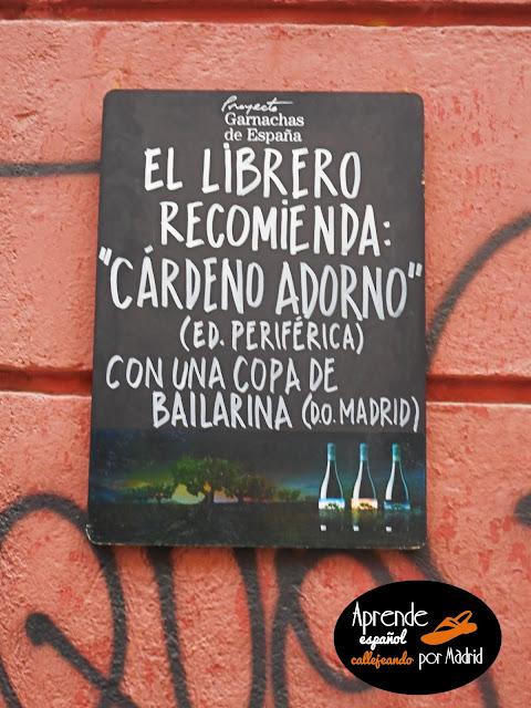 Aprende español callejeando por Madrid: Libros y libreros