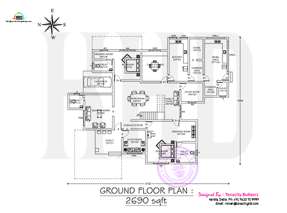 Drawing of ground floor plan