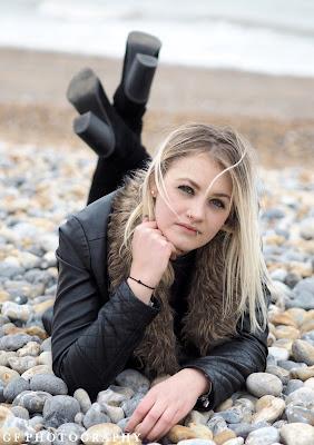 Hannah Bown on Beach