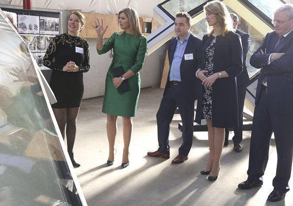 Queen Maxima wore Natan coat, Natan dress and Natan pumps from Fall  Winter collection