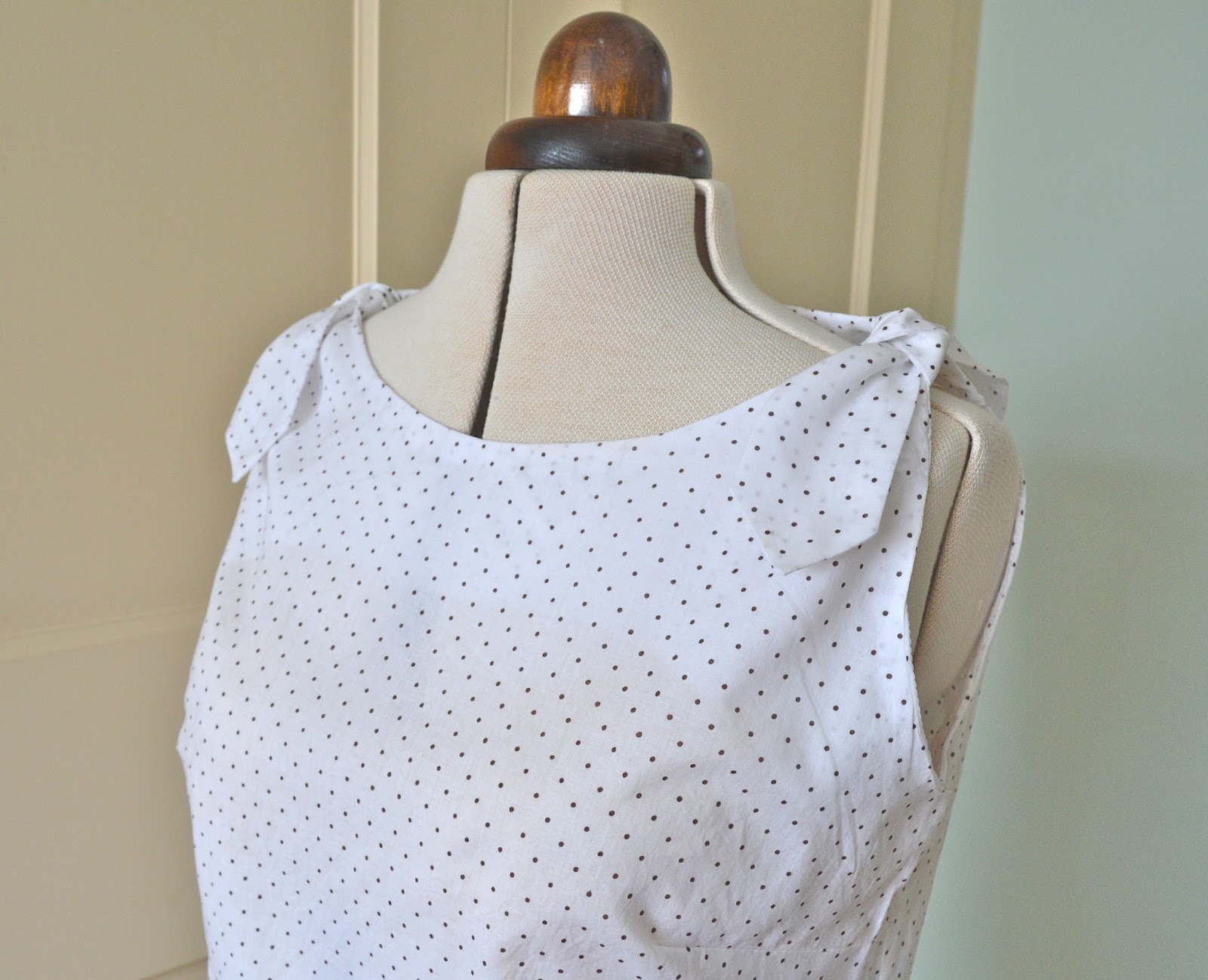 890f4e2cfe610 The pattern is a Woman's Own mail order pattern from 1961 and this latest  version is made from some lightweight polka dot lawn I received from Cindy  a few ...