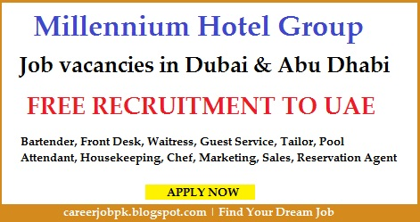 Jobs in Millennium Hotel Group Dubai & Abu Dhabi
