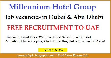 Jobs in Millennium Hotel Group Dubai & Abu Dhabi