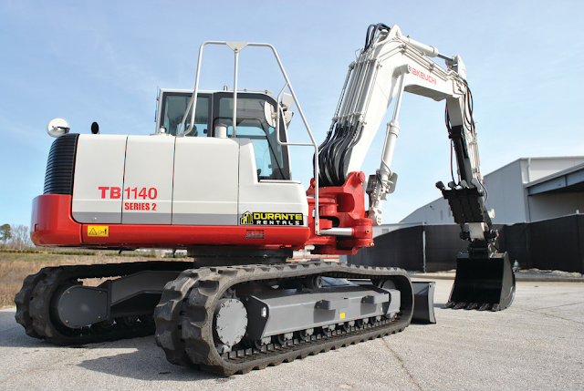 TB1140 Takeuchi Excavator on tarmac
