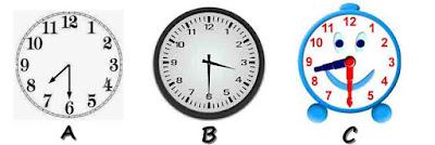 Membaca jam dalam Bahasa Inggris  half past
