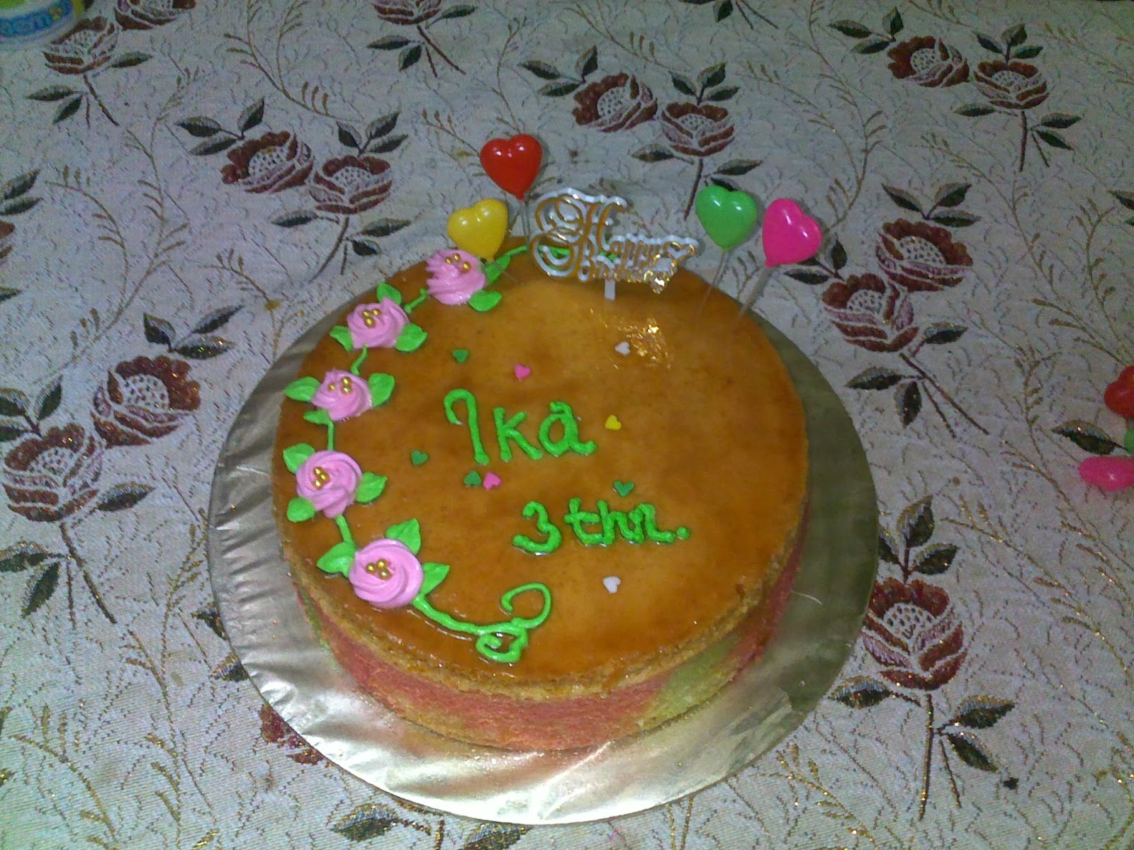 Yatie S Chocolate Cake Diaries Tempahan Kek Karamel
