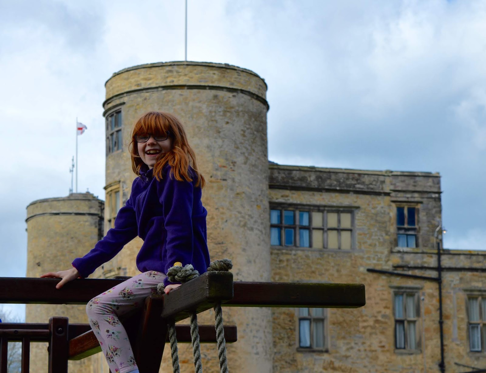 Sunday Lunch, Playgrounds & Birds of Prey at Walworth Castle, Darlington  - castle play area