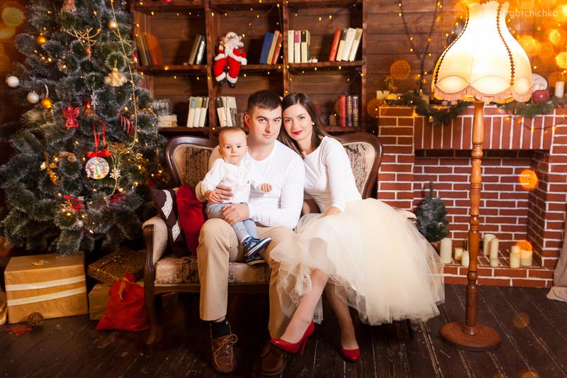 Новогодняя семейная фотосессия. Фотограф Ольга Горчичко