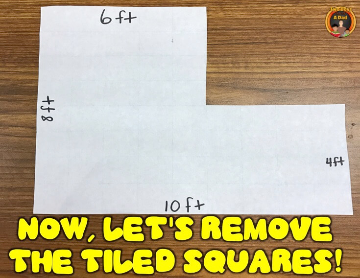 Finding the area of irregular shapes is harder without tiles