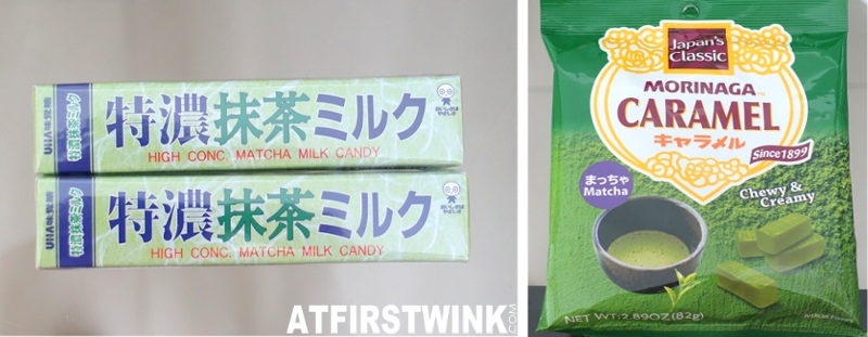 Highly concentrated matcha milk candy Morinaga matcha green tea caramel 味之誘感