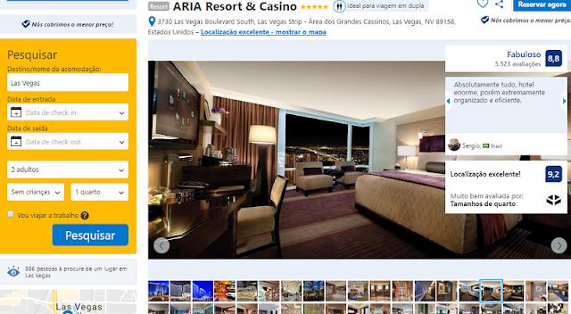 Estadia no Hotel ARIA em Las Vegas