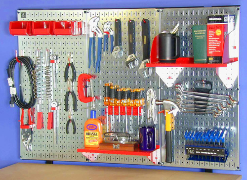 Garage peg board Toolboards