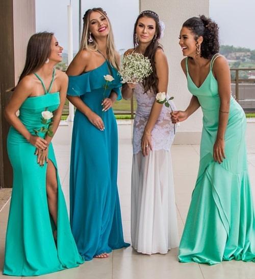 vestido verde para madrinha de casamento