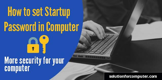 set startup password by syskey