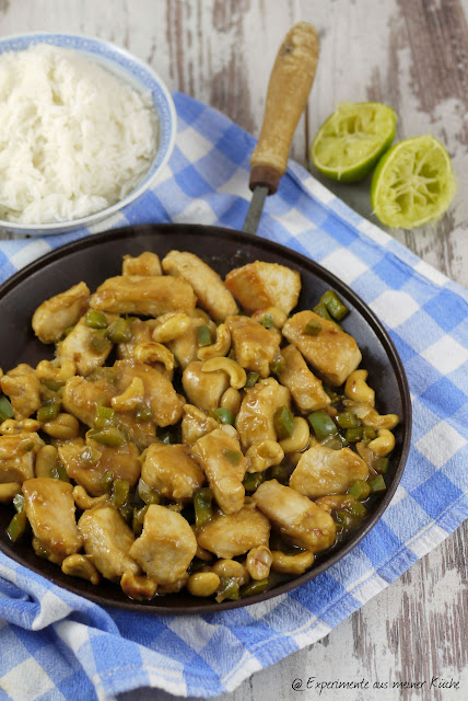 Experimente aus meiner Küche: Asiatische Hähnchenpfanne mit Cashewkernen