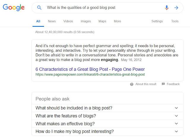 What is the qualities of a good blog post? || एक अच्छे ब्लॉग पोस्ट के गुण क्या हैं?