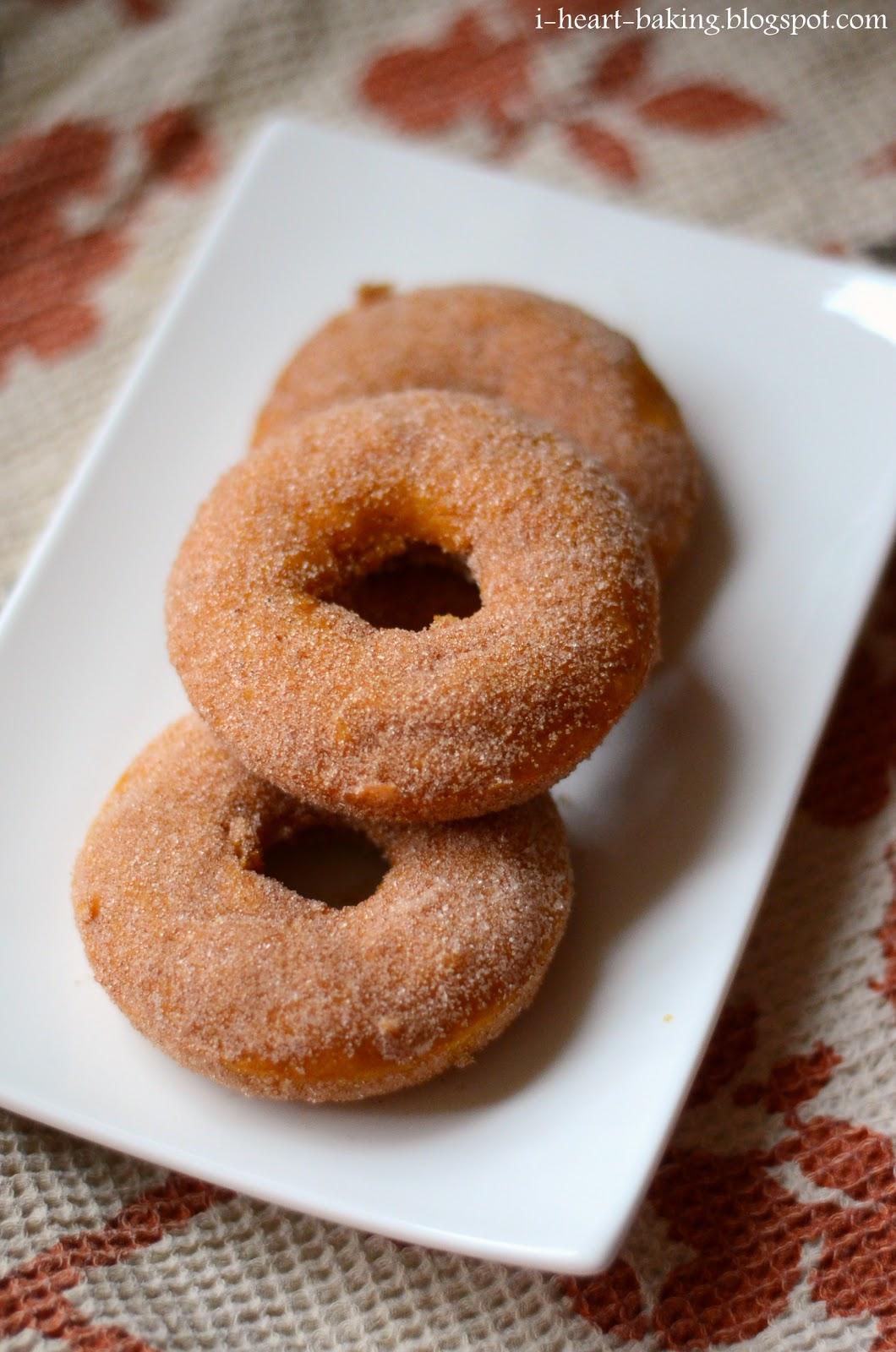 I Heart Baking Baked Pumpkin Doughnuts
