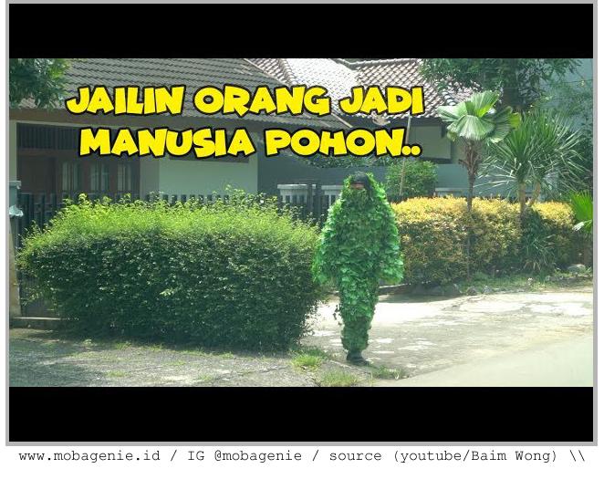 Prank Ghillie Suit PUBG dari Baim Wong jadi Trending di Youtube