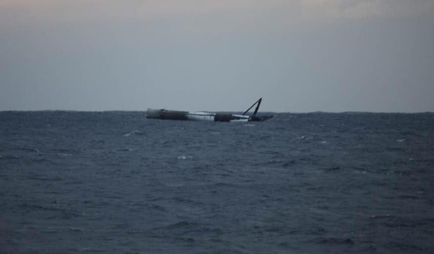 Ступень Falcon 9 после запуска отказалась тонуть в океане