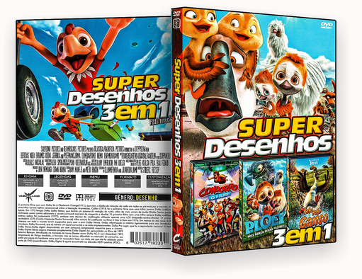 CAPA DVD – Super Desenhos 3 Em 1 Vol.1 – ISO