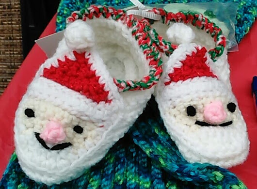 My newest item.. Santa Slippers