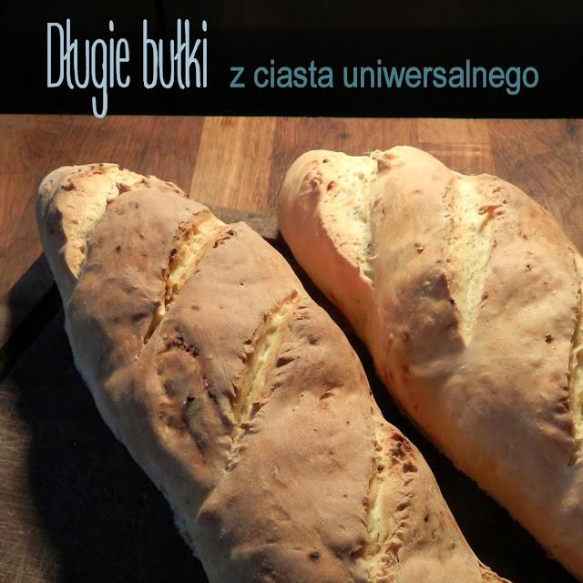 Długie bułki (angielki) z ciasta uniwersalnego