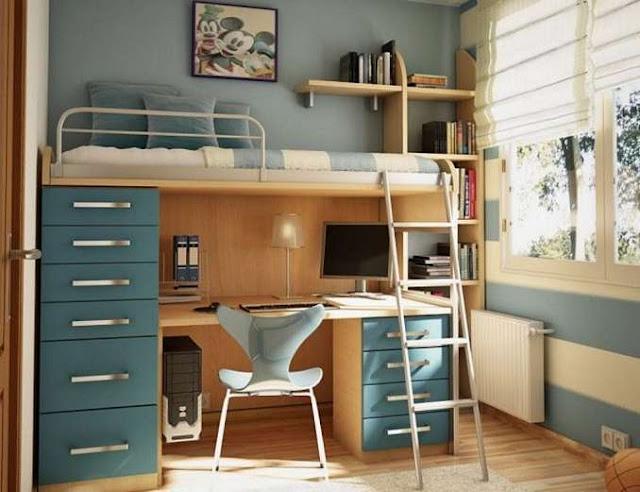 dekorasi bilik tidur bajet ruang sempit