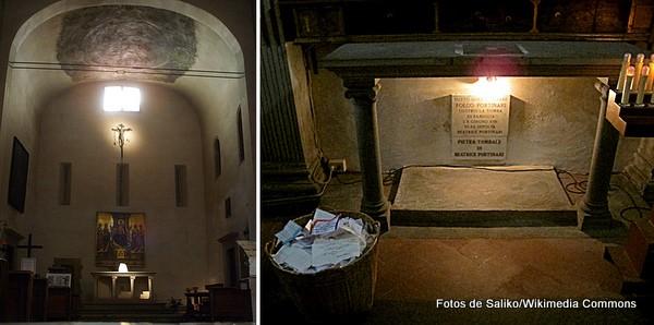Igreja de Santa Margherita dei Cerchi, Florença, túmulo de Beatriz, amada de Dante