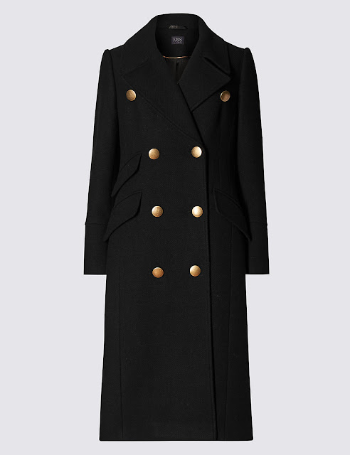 Marks and spencer military long coat