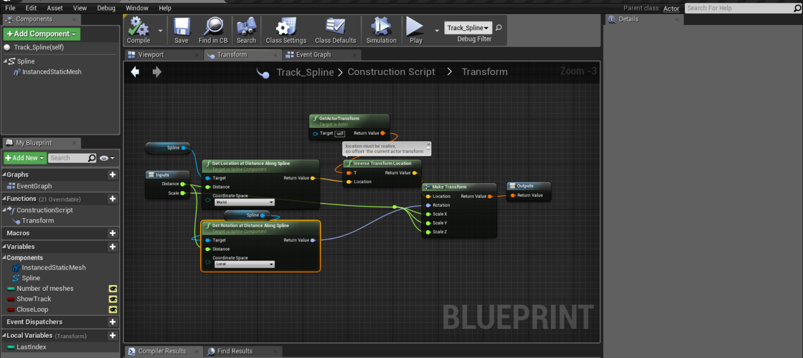 Ue4 roller coaster november 2016 the transform section of the script highlighted here setting up the creation of mesh along the spline line what happening here is that we are making it malvernweather Gallery