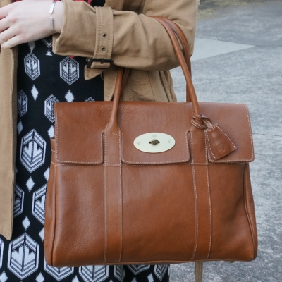 Mulberry Bayswater in Oak NVT leather for the office | Away From The Blue