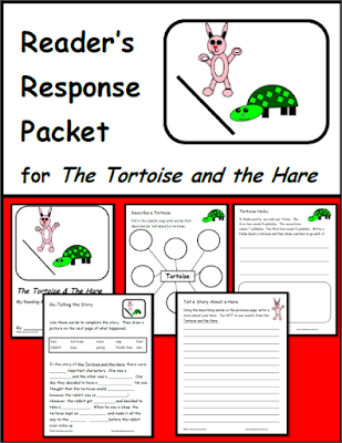 Free readers's response packet for the Tortoise and the Hare - focuses on comprehension, vocabulary and written response - from Raki's Rad Resources.