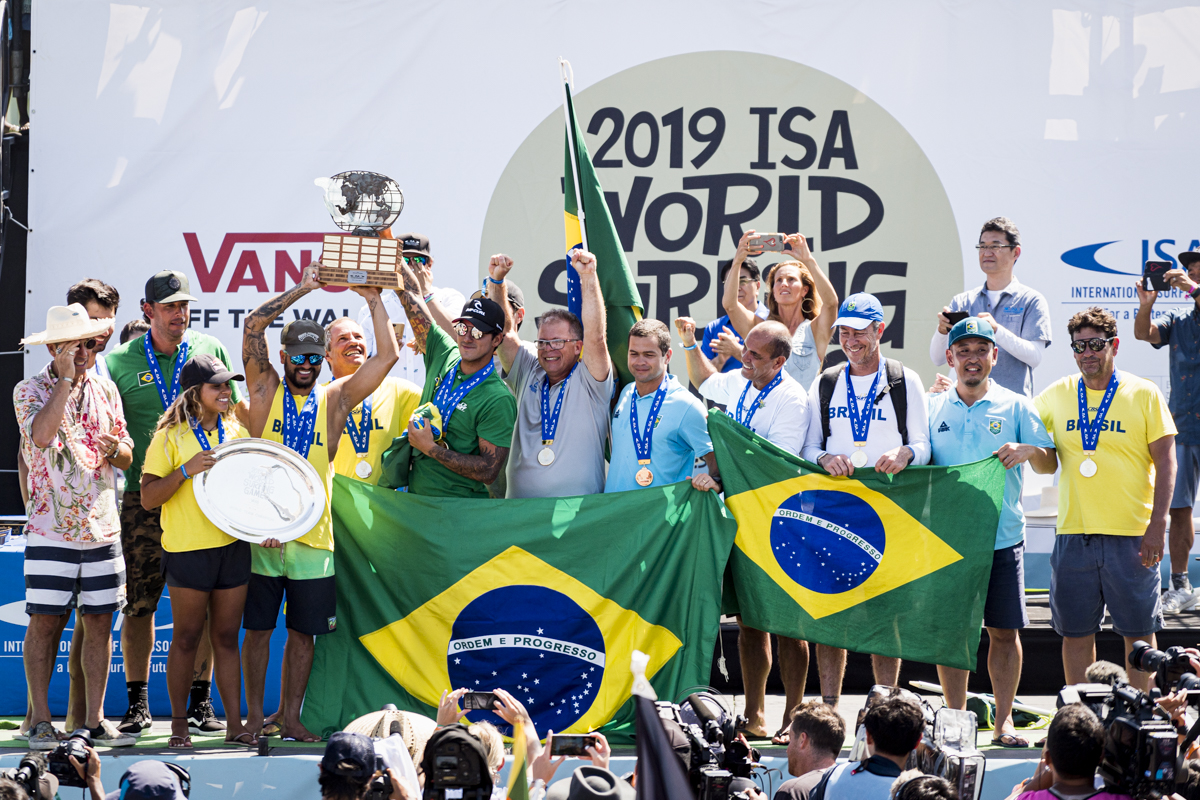 Brazil Wins Historic Team Gold at 2019 ISA World Surfing Games presented by Vans