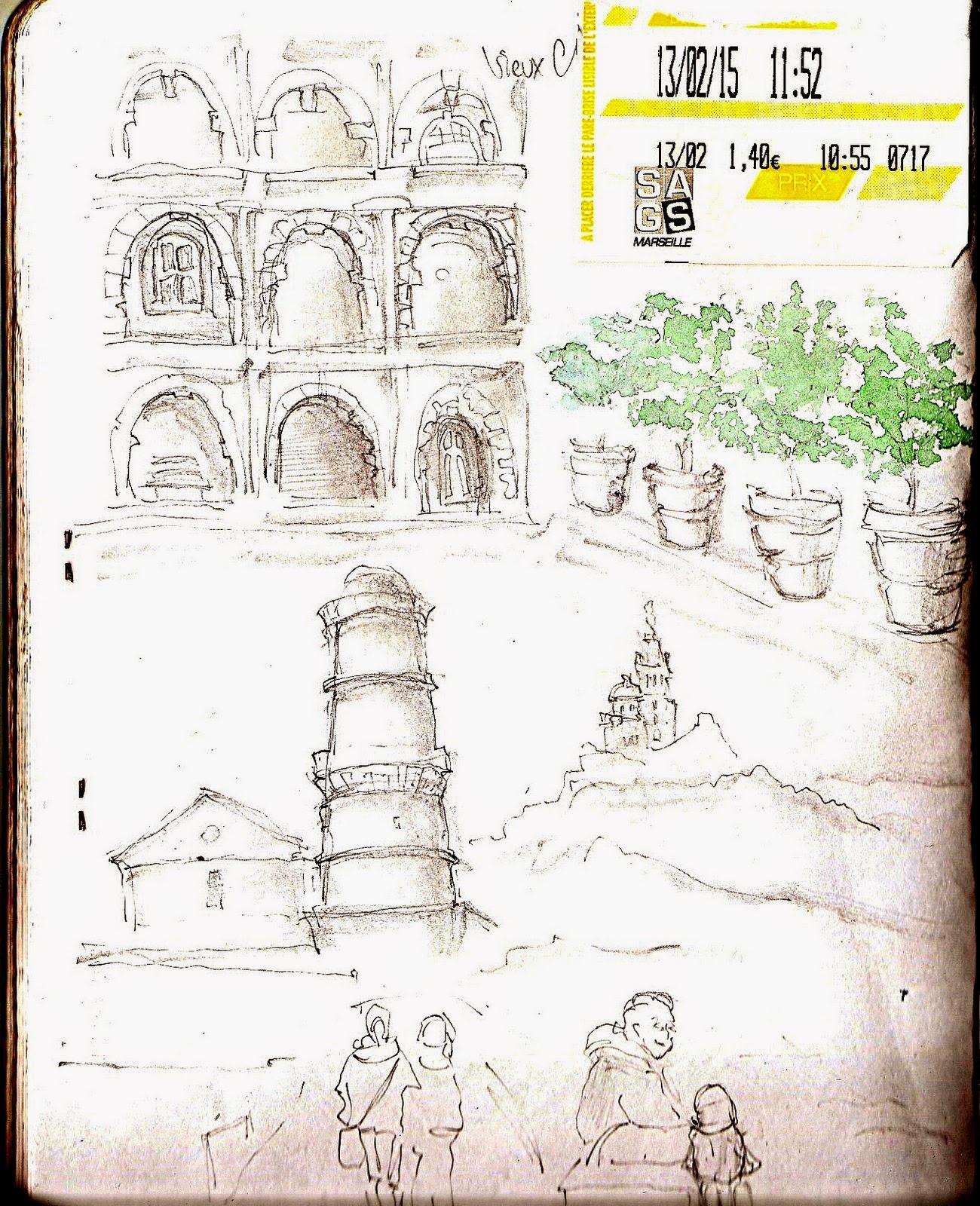 Marseille Pencil Sketch