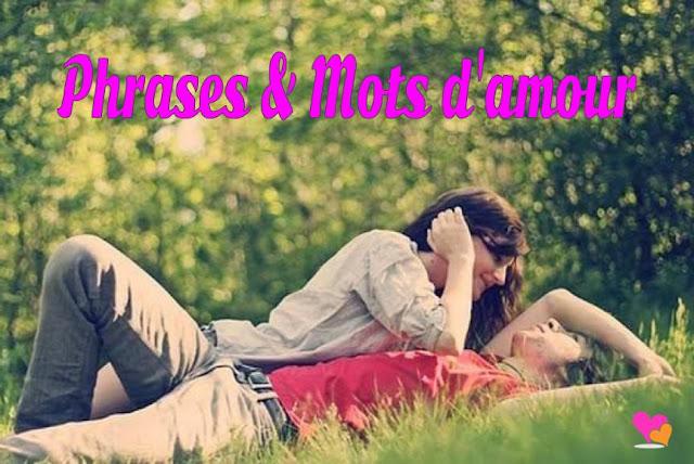Amour en quelques mots et phrases romantiques