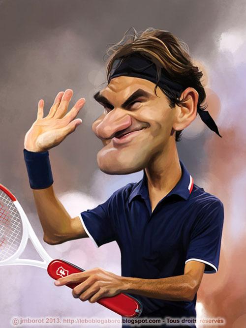 """""""Roger Federer"""" por Jean-Marc Borot"""